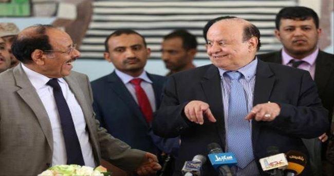 نتيجة بحث الصور عن علي محسن الأحمر وعبد ربه منصور هادي